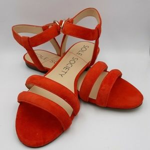 Sole Society Malie Suede Strappy 8.5 New in box